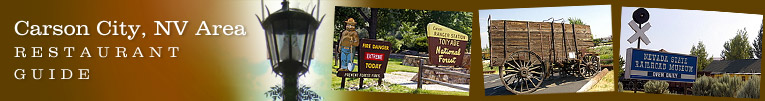 Carson City, All States area restaurant guide (header)