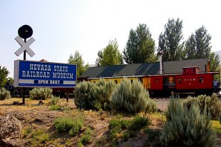 Railroad Museum Entrance Sign- (medium sized photo)