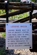Railroad Museum Logging Wagon Sign